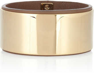 Chloé Gold-tone and leather bangle