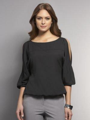 New York & Co. Cold Shoulder Blouse