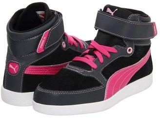 Puma Kids - Skylaa Jr (Little Kid/Big Kid) (Dark Shadow/Magenta/Black/Lilac Sachet) - Footwear