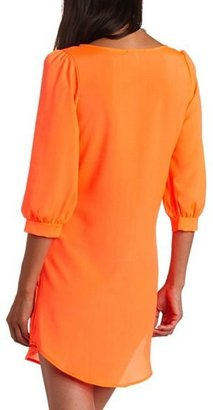 Charlotte Russe Neon Woven Shift Dress