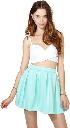 Factory Scuba Skater Skirt - Mint