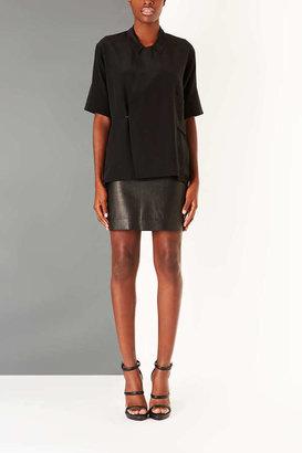 Topshop Silk Wrap Shirt By Boutique