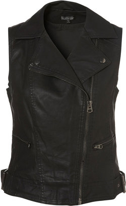 Topshop Sleeveless Biker Jacket
