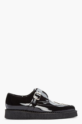 Underground Black Patent Boy London Buckle creepers