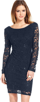 Jump Juniors' Lace Sequin Mini Dress
