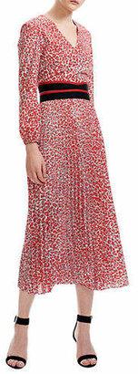 Maje Romilda Printed Long A-Line Dress
