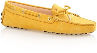 Tod's Gommino Leather Moccasin Loafers With Front Tie