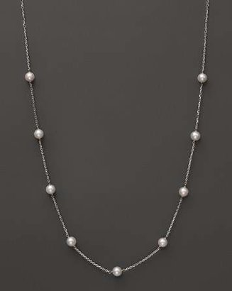 """Bloomingdale's 14K White Gold Akoya Cultured Pearl Necklace, 18"""""""