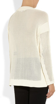 Alexander Wang Open-knit cotton-blend sweater