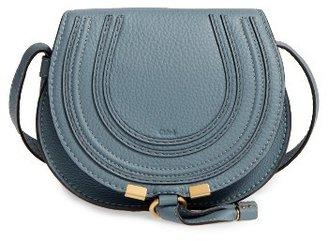 Chloe 'Mini Marcie' Leather Crossbody Bag - Blue $890 thestylecure.com