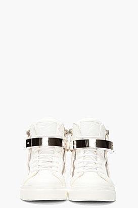 Giuseppe Zanotti Off-White Leather London Donna Sneakers