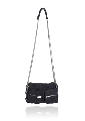 Alexander Wang Brenda Chain In Black Washed Lamb With Nickel