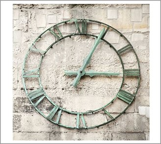 Pottery Barn Vertigris Clock Framed Print by Nichole Robertson