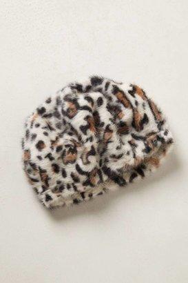 Anthropologie Snow Leopard Beret