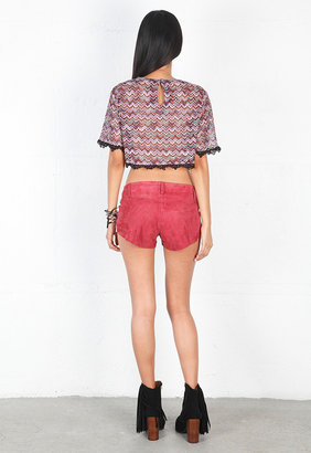 Singer22 Cabana Crop Top in Zig Zag - by For Love & Lemons