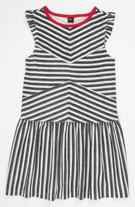Tea Collection 'Zebra Stripe' Flutter Dress (Toddler, Little Girls & Big Girls)