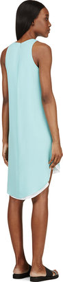 Rag and Bone Rag & Bone Aqua & White Silk Droptail Alyna Dress