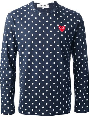 Comme des Garcons polka dot long sleeve t-shirt