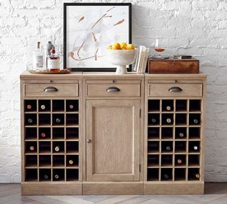 Pottery Barn Modular Bar Buffet with 2 Wine Grids
