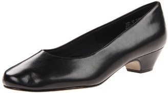 SoftStyle Soft Style Women's Angel II Pump,Black Smooth,6.5 W US