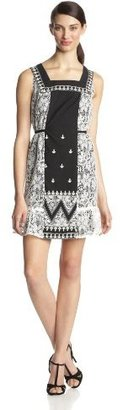 Anna Sui Women's Zig-Zag Applique-Embroidery Dress