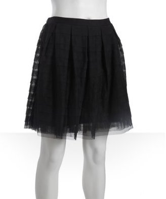 BCBGMAXAZRIA black tulle 'Alegra' tiered skirt