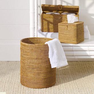 Gump's Woven Rattan Bath Accessories