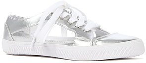 Jeffrey Campbell The Lylas Sneaker in Silver and White