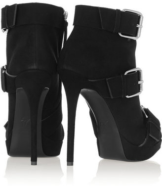 Giuseppe Zanotti Buckled suede ankle boots