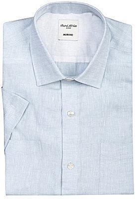 Murano Short-Sleeved Linen Solid Shirt