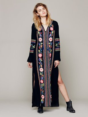 Candela Cocoa Embroidered Kaftan