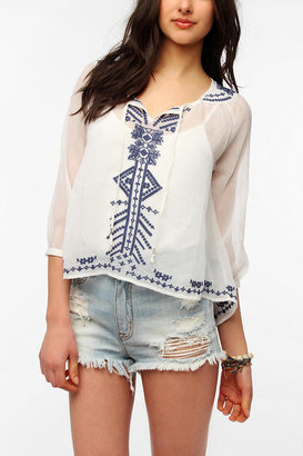 Urban Outfitters Ecote 3/4 Sleeve Festival Tunic