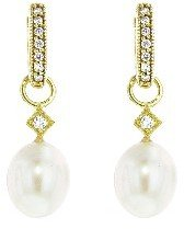 Jude Frances Simple Pearl Charms - Yellow Gold