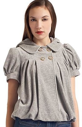 Juicy Couture Pleated Puff-Sleeve Jacket