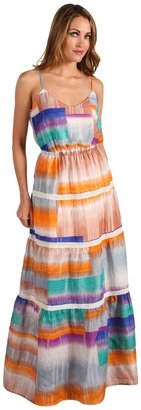 Twelfth St. By Cynthia Vincent by Cynthia Vincent - Tiered Lace Maxi Dress (Cubist) - Apparel