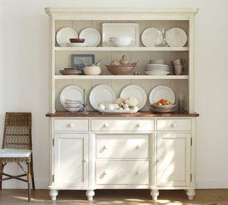 Pottery Barn Keaton Buffet & Hutch - French White