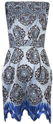 Thakoon Sleeveless embroidered backless dress