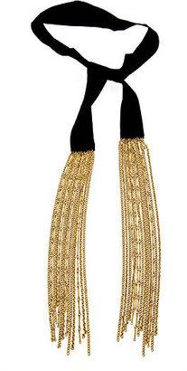 Ben-Amun Ribbon and Tassel Lariat Necklace