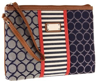 Nine West On Cloud 9 Denim Wristlet Large (Blue Multi) - Bags and Luggage