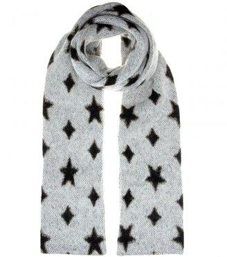 Saint Laurent Mohair-blend scarf