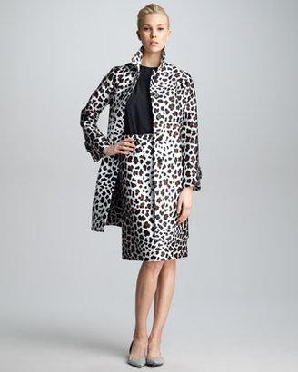 Marc Jacobs Leopard-Print Satin Jacket
