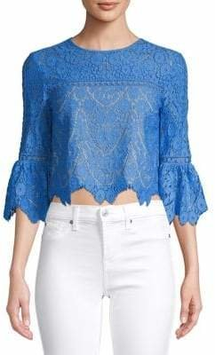 Saylor Bell-Sleeve Lace Top