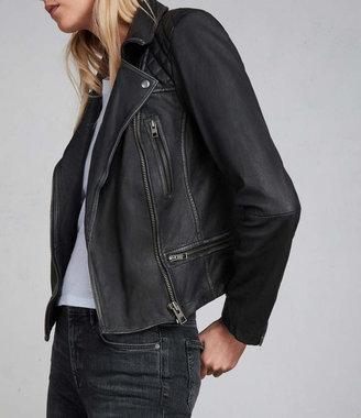 Cargo Leather Biker Jacket $540 thestylecure.com
