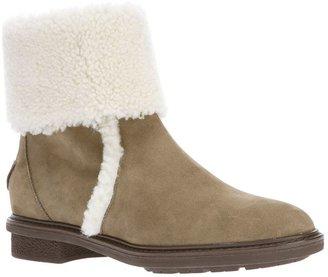 Fendi shearling trimmed boot