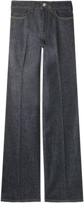 Stella McCartney Raw Blue Flared Jeans