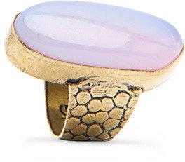 MANGO Oval stone ring
