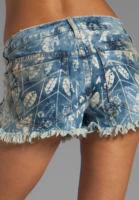 Free People Shibori Cut Offs