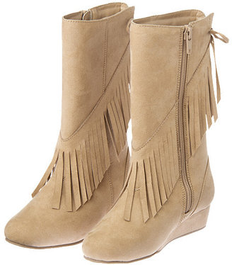 Gymboree Fringe Faux Suede Wedge Boot