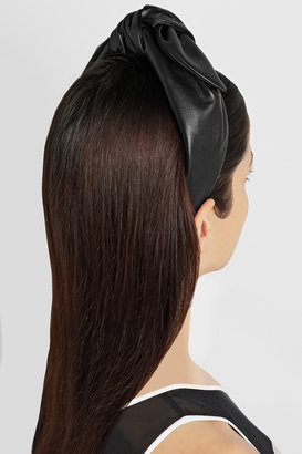 Eugenia Kim Phoebe bow-detailed leather headband