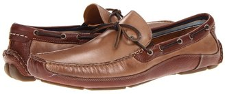 Johnston & Murphy McKinnon One Eye Tie (Brown Nubuck/Cocoa Full Grain) - Footwear